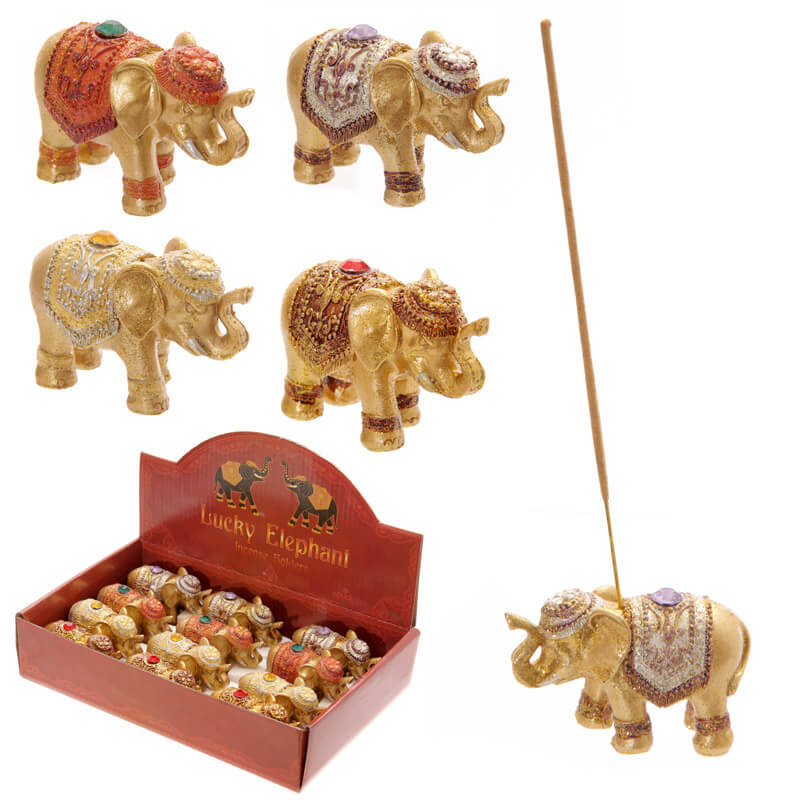 Lucky Elephant Incense Holder/Ornament